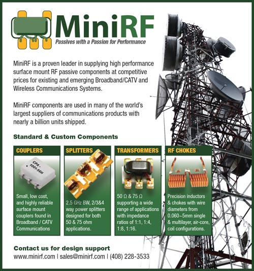 3rd Pg Advertisement Design for Mini RF Filters